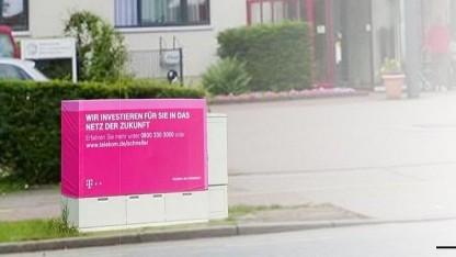 Vectoring-Werbung am Kabelverzweiger der Telekom