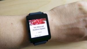 Die Koch-App Allthecooks auf der LG G Watch