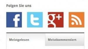 Das Anti-Tracking-Tool blockt die Buttons zu sozialen Netzwerken.