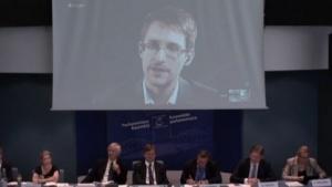 Videobefragung Edward Snowdens durch den Europarat
