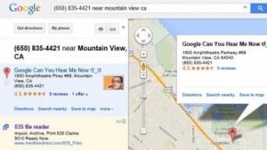 Manipulierter Eintrag über den Google-Firmensitz in Google Maps