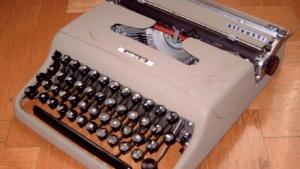 Nicht so leicht abzuhören: eine mechanische Schreibmaschine