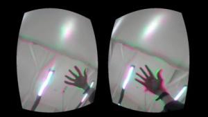 Mediated Perceptions: Ein Blick durch die Oculus Rift zeigt gefilterte Wirklichkeit.