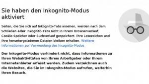 Das neue Design des Inkognito-Modus