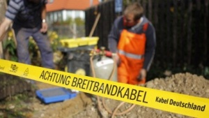 Bauarbeiten zum Kabelnetzausbau