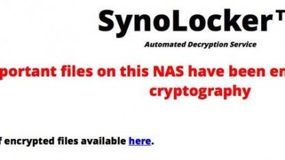 Die Ransomware Synolocker befällt NAS-Systeme von Synology.