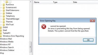 Durch ein Nicht-Ascii-Zeichen verschleiert sich Malware in der Registry von Windows.