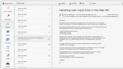 Erstes vorläufiges Design eines KDE-E-Mail-Clients in QML
