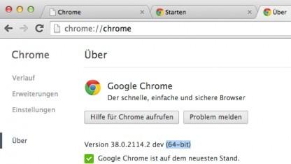 Google testet Chrome in der 64-Bit-Variante nun auch unter Mac OS X.