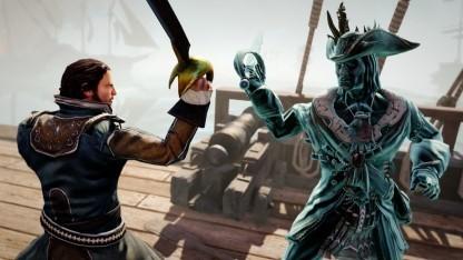 Der Held von Risen 3 kämpft gegen Geisterpiraten.