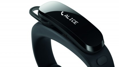 Das Talkband von Huawei ist Fitness-Armband und Bluetooth-Headset in einem.