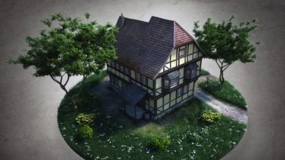 Eines der Gebäude aus Die Gilde 3