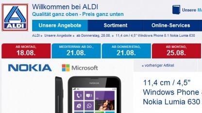 Lumia 630 bei Aldi-Nord