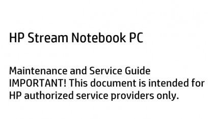 Das Reparaturhandbuch listet alle Details zum HP Stream auf.