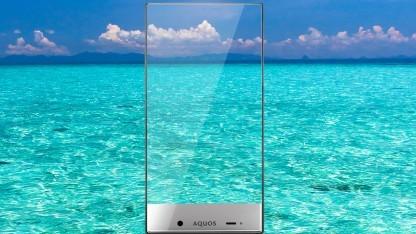 Künftige Oppo-Smartphones könnten einen noch schmaleren Rand als das Sharp Aquos Crystal haben - hier im Bild.
