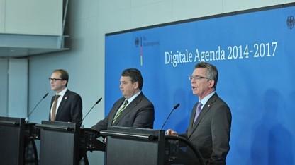 Die Digitale Agenda ist ein Produkt von drei Ministern: Alexander Dobrindt, Sigmar Gabriel und Thomas de Maizière (v.l.n.r..).