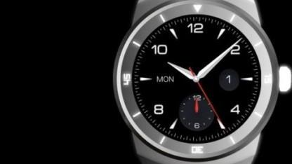 Die LG Smartwatch R läuft mit Android Wear.