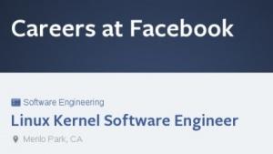 Facebook sucht einen Kernel-Hacker für den Linux-Netzwerkstack.