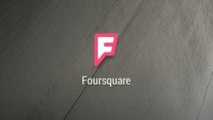 Foursquare-Logo auf einem Smartphone mit Android
