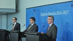 Die Digitale Agenda ist ein Produkt von drei Ministern: Alexander Dobrindt, Sigmar Gabriel und Thomas de Maizière (vlnr.).