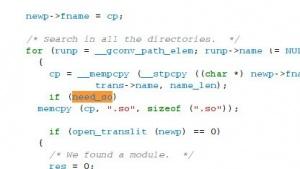 Ein Fehler in der Glibc-Bibliothek überschreibt ein einzelnes Byte an der falschen Stelle.