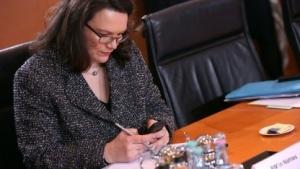 Will gegen zu viel Stress am Arbeitsplatz vorgehen: Arbeitsministerin Andrea Nahles