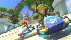Mario Kart 8 mit Link