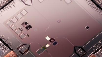 Der Chip aus einer Quantenmaschine, an der Google mitarbeitet