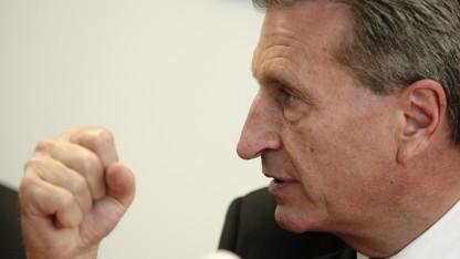 Der neue EU-Kommissar für Digitale Wirtschaft und Gesellschaft: Günther Oettinger