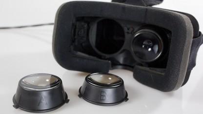 Die Linsen des Oculus Rift DK2