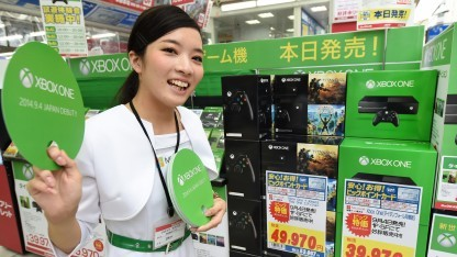 Verkaufsstand der Xbox One in Japan