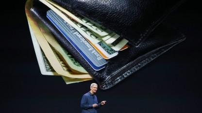 Apple-Chef Tim Cook bei der Vorstellung von Apple Pay