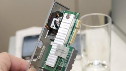 Mit der SSD braucht Lacies d2 einen Lüfter.