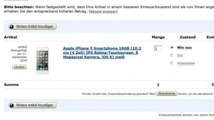 Amazon Trade-In eines iPhones