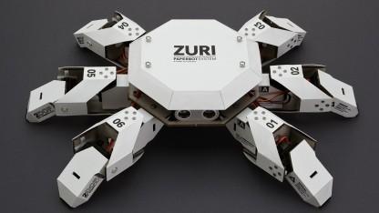 Sechsbeiniger Roboter mit 3 Freiheitsgraden pro Bein