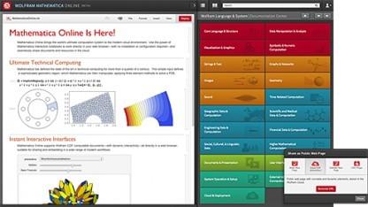 Mathematica läuft dank der Wolfram Cloud nun auch im Browser.