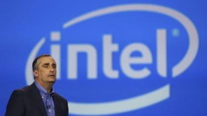 Intel-Chef Brian Krzanich spricht auf der CES 2014 in Las Vegas.