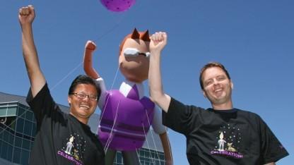 Yahoo-Gründer Jerry Yang (links) und David Filo (2007): thematisch geordnetes Verzeichnis des Internets