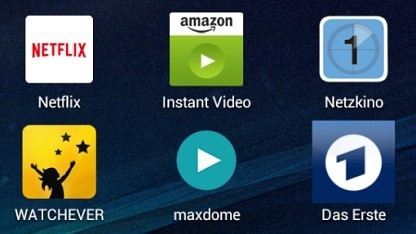 Streaming-Apps auf einem Android-Tablet