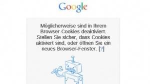 Die etwas irreführende Meldung des Fehlers bei Google