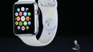 Apple Watch mit Homebildschirm
