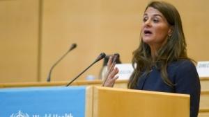 Melinda Gates, Mitbegründerin der Bill & Melinda Gates Foundation, vor der Weltgesundheitsorganisation