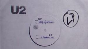 U2-Album-Cover während der Apple-Präsentation