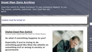 Dead Man Zone veröffentlicht brisante Dokumente erst nach dem eigenen Tod.
