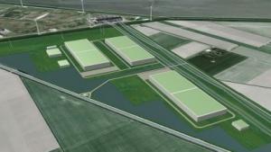 Zeichnung des künftigen Rechenzentrums in Eemshaven