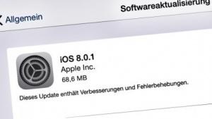 iOS 8.0.1 mit zahlreiche Fehlerbehebungen