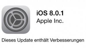 iOS 8.0.1 ist fehlerhaft