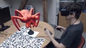 Eine dreidimensional modellierte Spinne