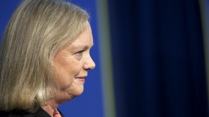 HP-Chefin Meg Whitman baut 85.000 IT-Jobs ab.