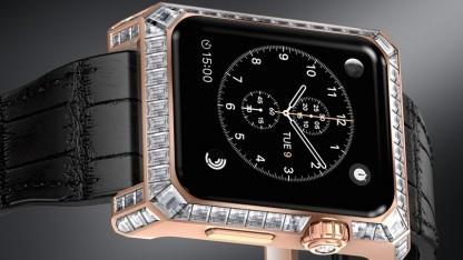 Apple Watch mit Gold und Brillanten